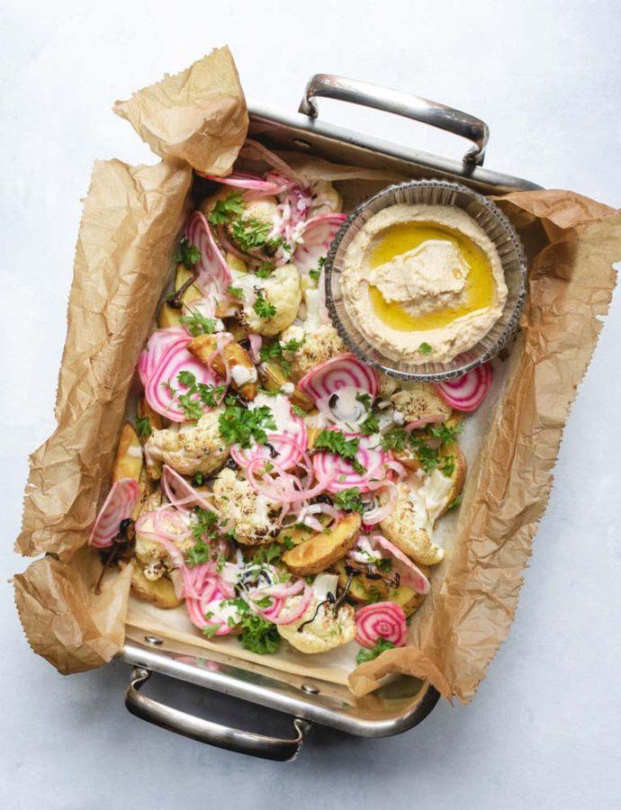 Ovnbagte kartofler & blomkål m. pickles