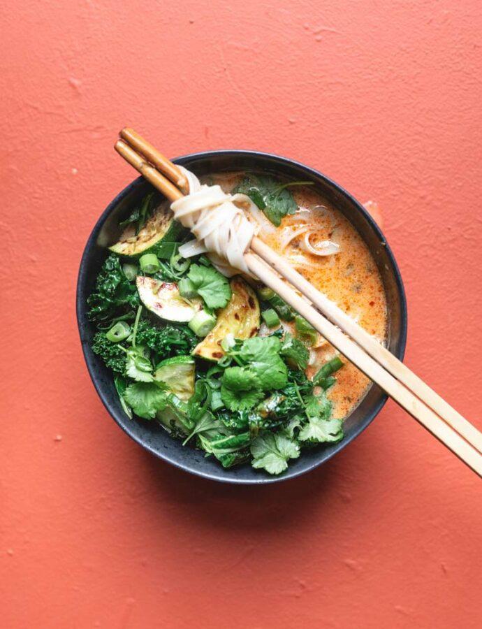 Thaisuppe med rød karry