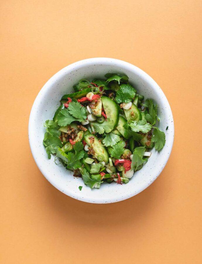 Chong Qing's agurkesalat