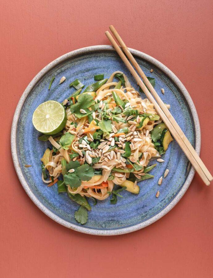 Veganske stegte nudler á la Pad Thai