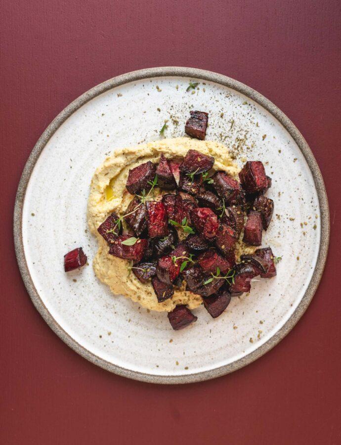 Hummus med ovnbagte rødbeder & Za'atar