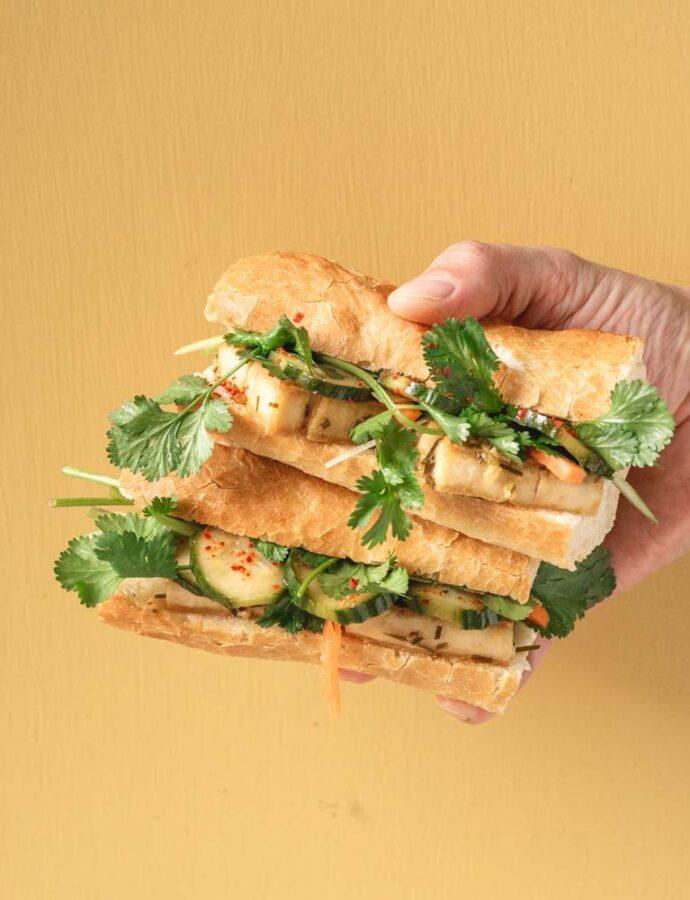 Banh mi med tofu