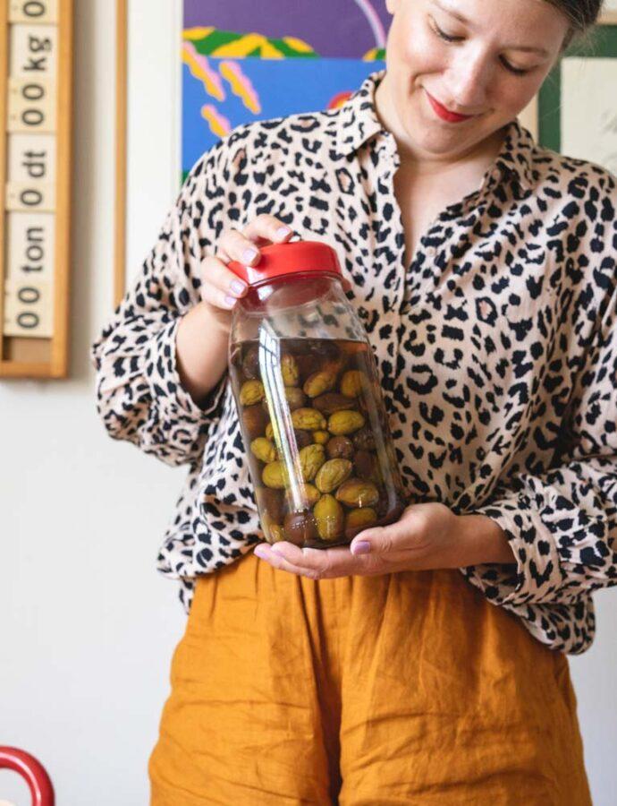 Hjemmelavet japansk blommevin (umeshu)