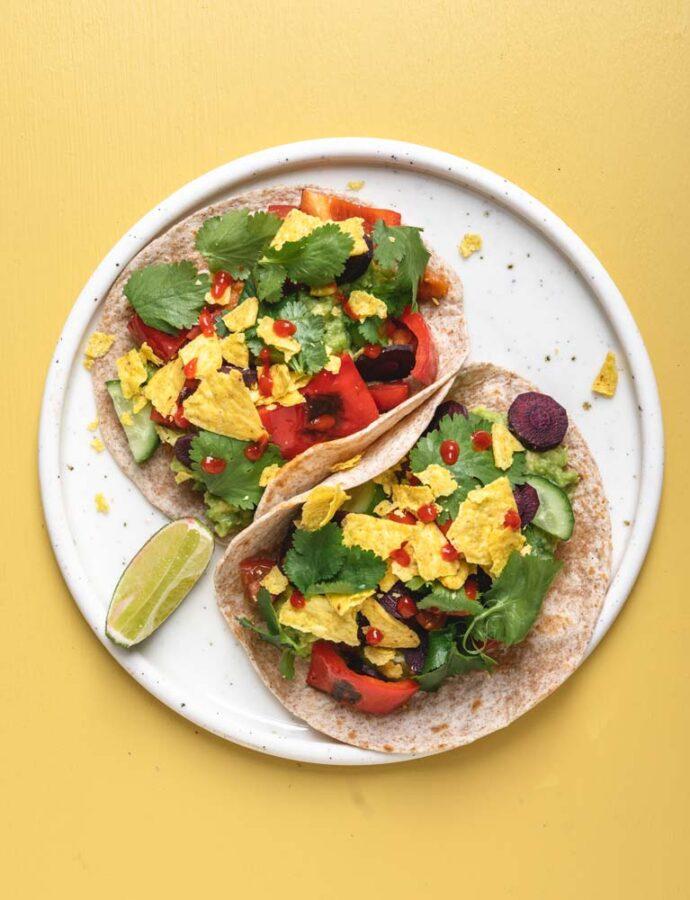 Tacos med bønner – fajitas style