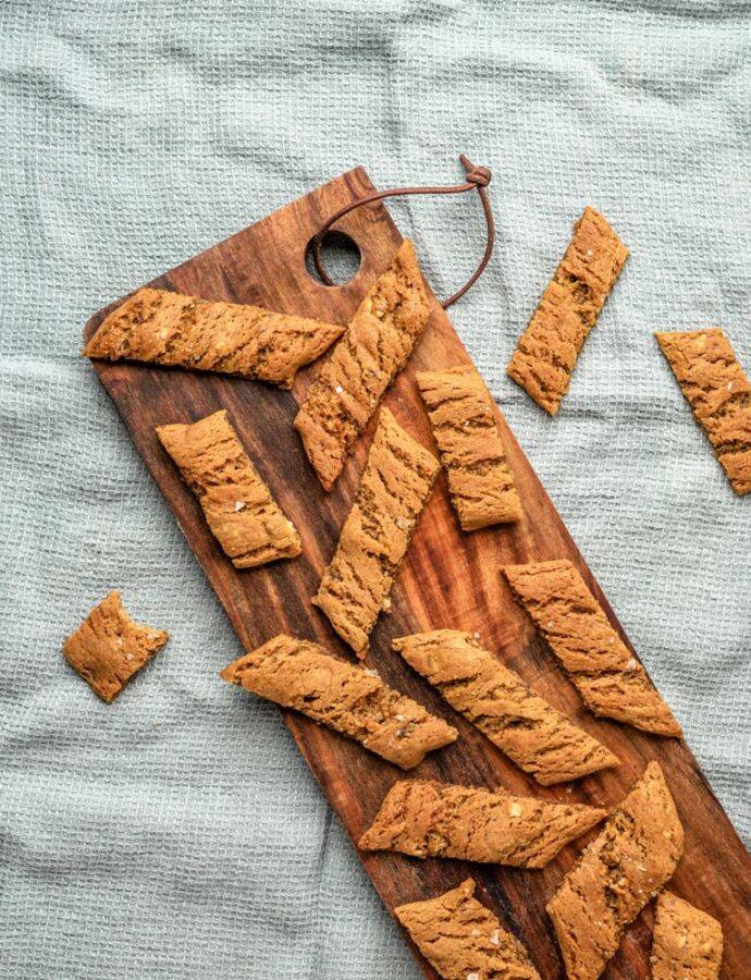 Ingefærsmåkager med miso og nødder