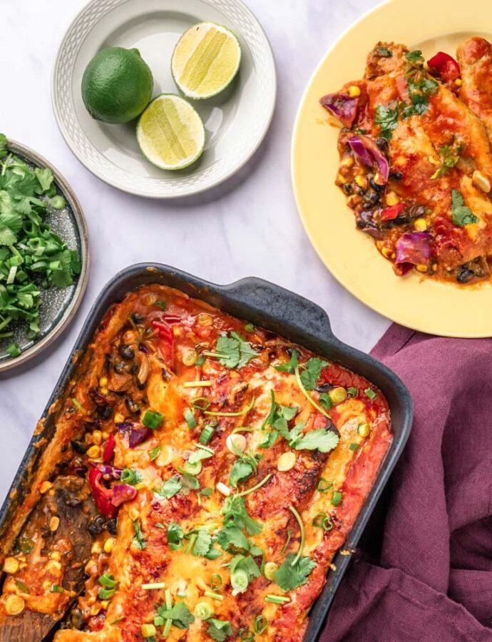 Vegetariske Enchiladas